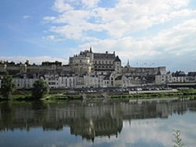 Castillo de Amboise, Francia, en la rivera del Loire.