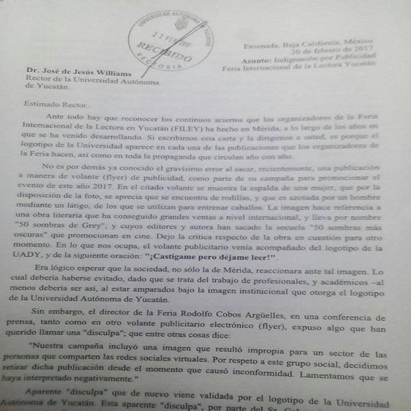 Carta al rector de la universidad autnoma de yucatn diario del carta al rector de la universidad autnoma de yucatn thecheapjerseys Choice Image