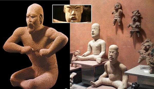 Rasgos chinos en esculturas Olmecas.