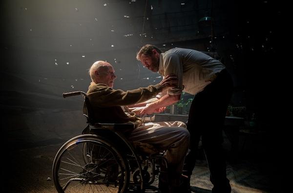 Charles Xavier (Patrick Stewart) y Logan (Hugh Jackman.
