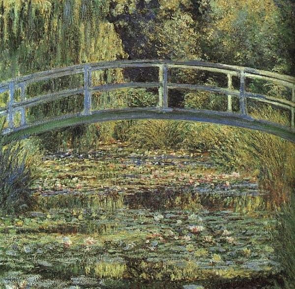 El puente icónico japonés es sin duda uno de los puntos culminantes de los jardines de Monet.