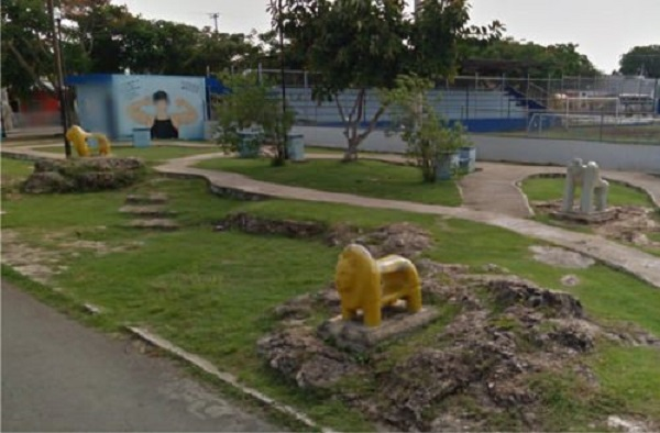 Uno de los últimos trabajos de El Marqués, en el parque de la Melitón Salazar.