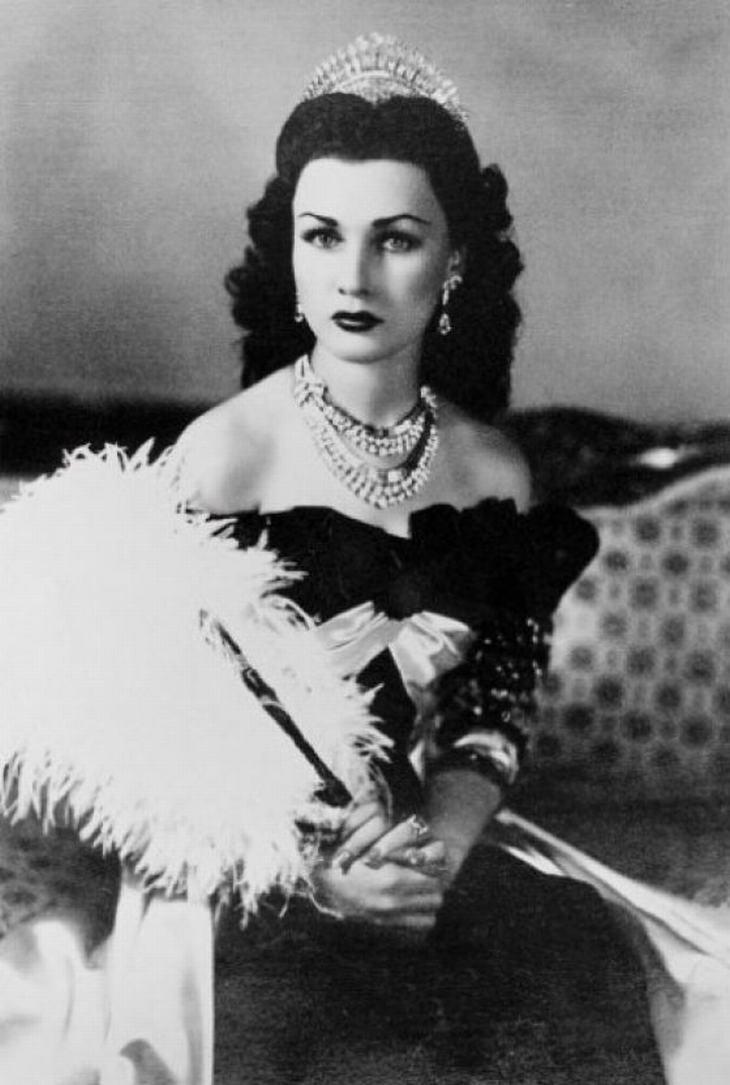 Fawzia Fuad, princesa de Irán y reina de Egipto (1939)