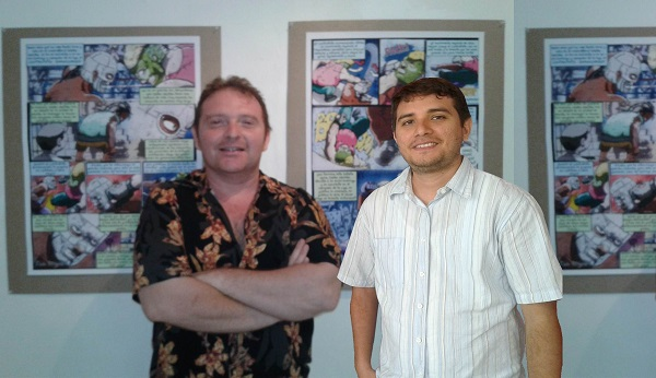 Rubén Camilo Solís Pacheco y Joel Andrés Castilla Rosado, dos de los tres organizadores de este magno evento.