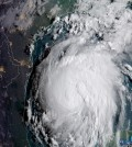 Hurricane Harvey is seen in the Texas Gulf Coast, U.S., in this NOAA GOES satellite  image on August 24, 2017.  NOAA/Handout via Reuters   THIS IMAGE HAS BEEN SUPPLIED BY A THIRD PARTY. IT IS DISTRIBUTED, EXACTLY AS RECEIVED BY REUTERS, AS A SERVICE TO CLIENTS.