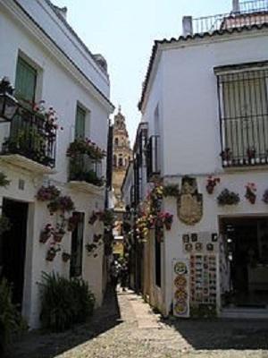 Calleja de las flores - Mezquita de Córdoba al fondo.