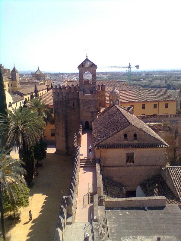 El Alcázar, residencia fortaleza de los Reyes Católicos en Córdoba.