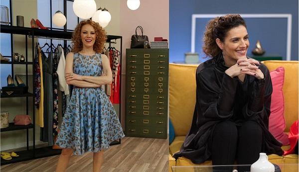 Daniela Magún, conductora del programa, y Bebé Sanders, encargada el estilismo del cabello de las participantes.