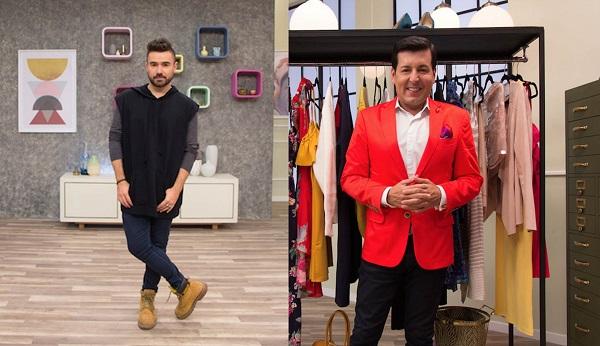 El maquillista mexicano José Labastida y el vestuarista colombiano Juan Carlos Giraldo.