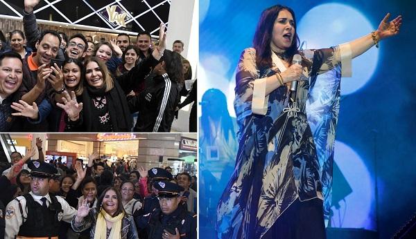Tania Libertad es una de las artistas más queridas por el público, sus fanáticos la adoran y ella corresponde ese cariño.