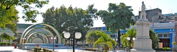 Parque Central José Martí, en la ciudad de Guantánamo, Cuba.