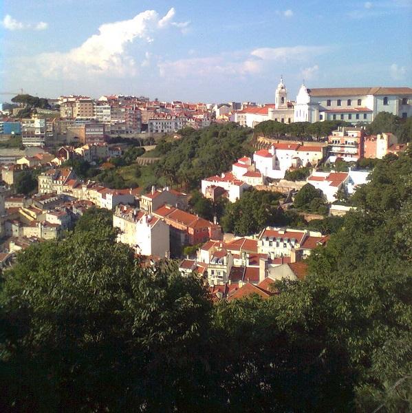 Vista parcial de Lisboa desde el Castillo de San Jorge.