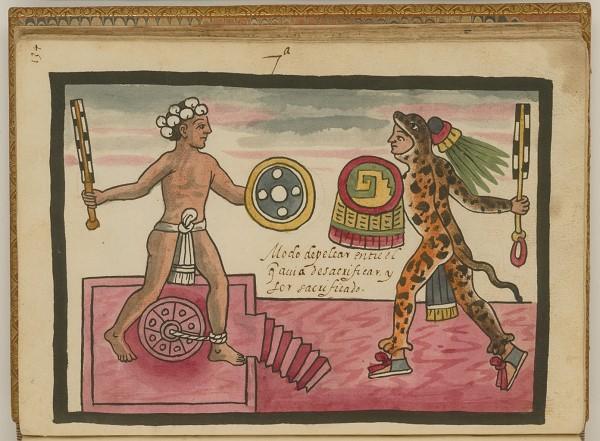 Página del Códice Tovar. Fuente: https://www.google.com.mx/search?q=cuachic+o+guerreros+rapados&source