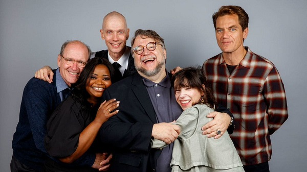 Richard Jenkins, Olivia Spencer, Doug Jones, Guillermo del Toro, Sally Hawkins y Michael Shannon.