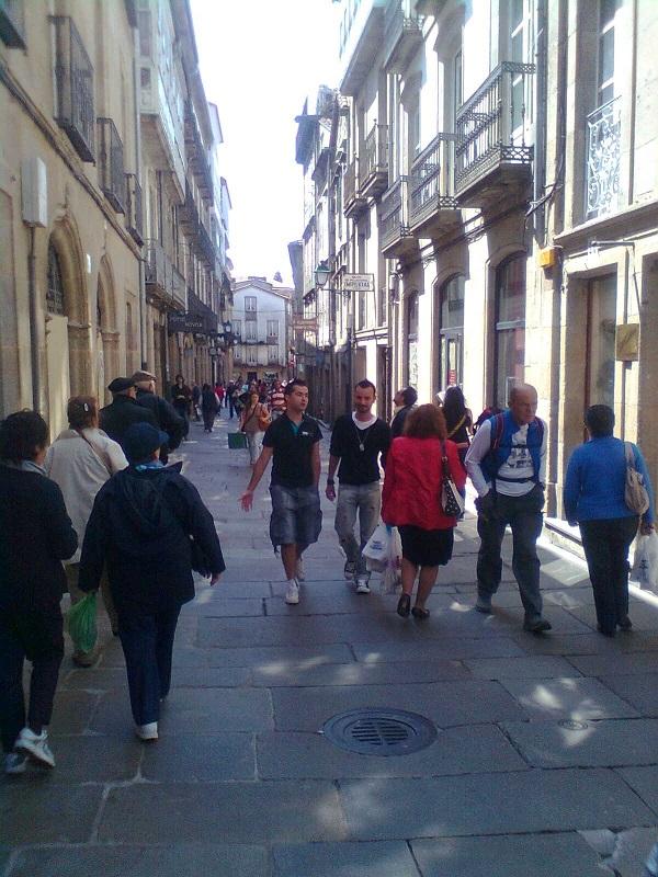 Caminando por las calles de Santiago.