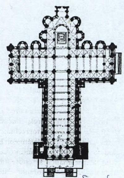 Planta de la catedral.