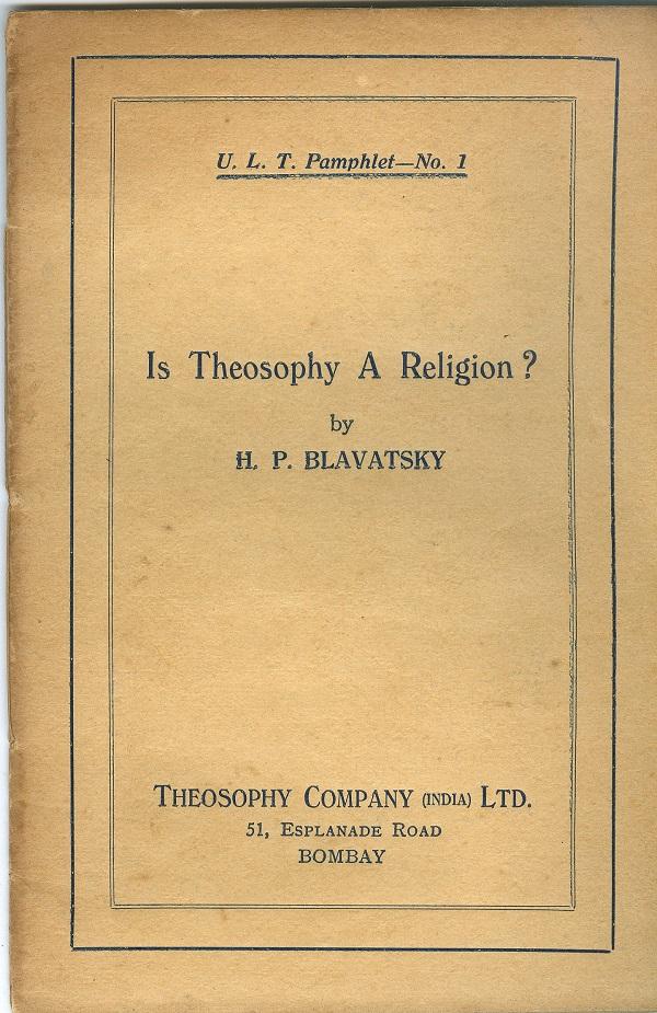 Blavatsky  Is a...