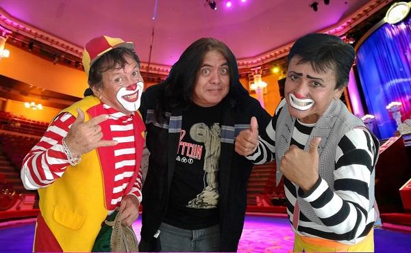 De izquierda a derecha: Caramelo, Ricardo Pat y Chupirul, reunión de grandes amigos.