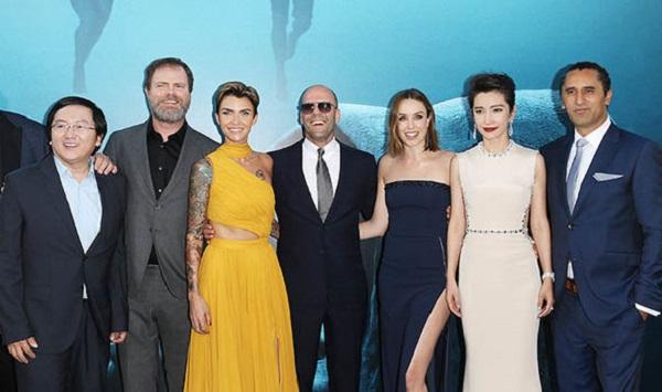 Masi Oka, Rainn Wilson, Ruby Rose, Jason Statham, Jessica McNamee, Bingbing Li y Cliff Curtis, el reparto de Megalodón.