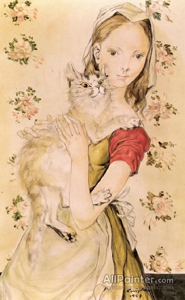 Ilustración de Leonard Tsuguharu Foujita.