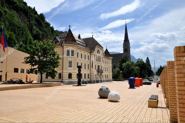 Plaza Central de la Ciudad de Vaduz.