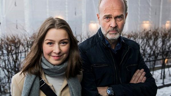 La actriz Andrea Berntzen  y el director Erik Poppe.