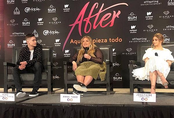 """La autora de """"After"""", Anna Todd, durante una de las presentaciones de la cinta. (Foto cortesía Diamond Films México)."""