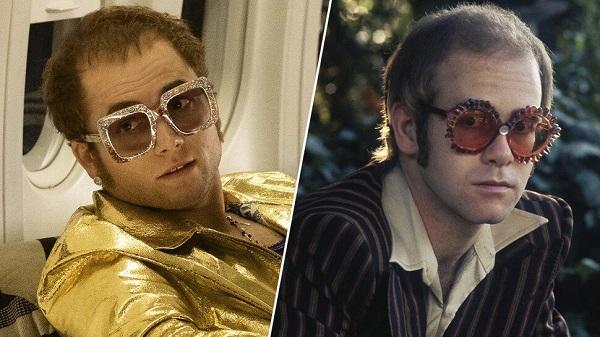 Taron Egerton y Sir Elton John.